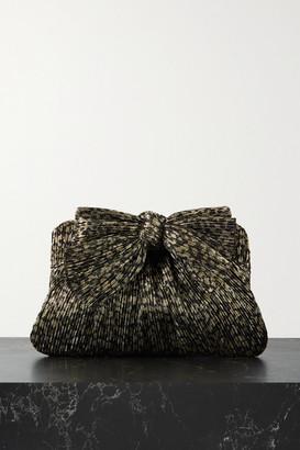 Loeffler Randall Rayne Bow-embellished Plisse-lame Clutch