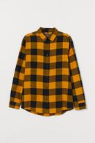 H&M Cotton Flannel Shirt - Yellow