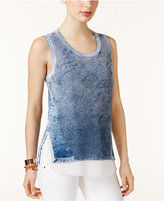 INC International Concepts Cotton Layered-Look Sweater, Only at Macy's