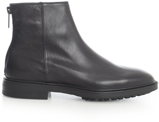 Paul Smith Leather Oscar Boots W/zip On Back