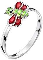 Jo for Girls Sterling Silver Uggle Bug Ring - Size J