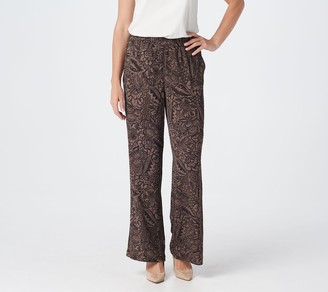 Linea by Louis Dell'Olio Regular Printed Pull-On Wide Leg Pants