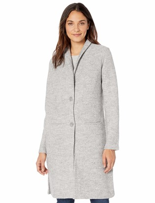 Tribal Women's Boiled Wool Long Coat with Pockets