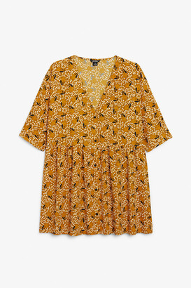 Monki Button-up V-neck dress