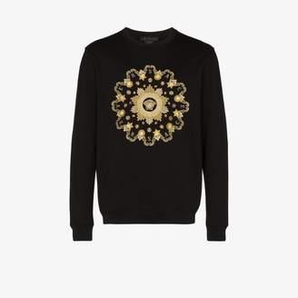 Versace medusa logo cotton sweater