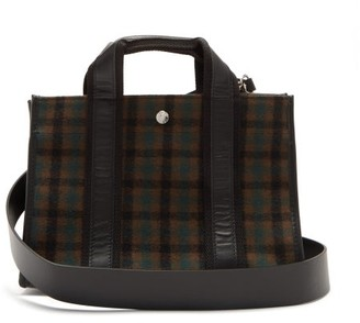 Rue De Verneuil - Upper East Small Checked Wool-blend Tote Bag - Brown Multi