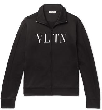 Valentino Logo-Print Jersey Track Jacket