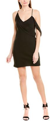 Mason by Michelle Mason Cowl Silk-Lined Mini Dress