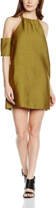 C/Meo Women's Perfect Lie Halterneck Short Sleeve Dress