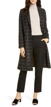 Helene Berman Plaid Wool Blend College Coat