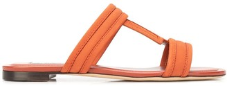 Tod's T-bar flat leather sandals