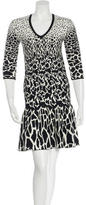 Roberto Cavalli Patterned Flounce Dress