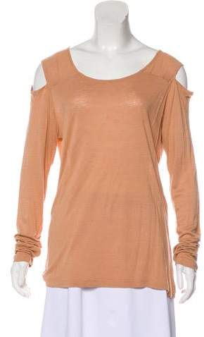 See by Chloe Long Sleeve Cold-Shoulder T-Shirt