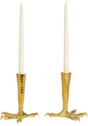 Jonathan Adler Brass Talon Candle Holder Set