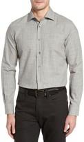 Luciano Barbera Men's Broken Plaid Sport Shirt
