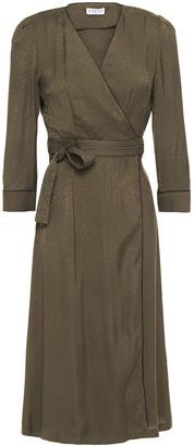 Claudie Pierlot Jacquard Midi Wrap Dress