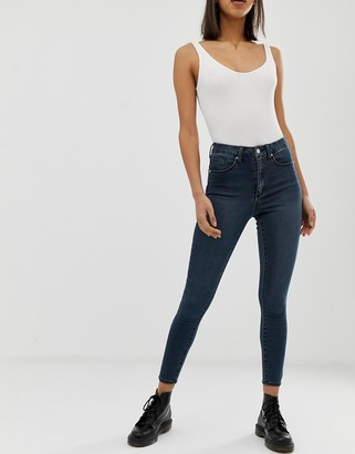 ASOS DESIGN 'Sculpt me' high waisted premium jeans in london blue