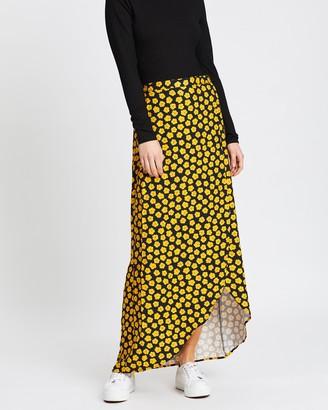 MinkPink Sunfields Midi Skirt