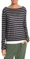 Vince Stripe Lightweight Cashmere Sweater