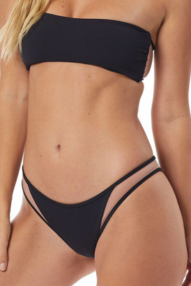 Tori Praver Starlet Rib Manon Bikini Bottom Black S