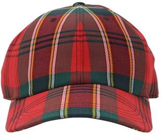 Alexander McQueen Embroidered Logo Tartan Baseball Hat