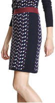 Joe Fresh Women's Geo Pattern Sweater Skirt, JF Midnight Blue (Size S)