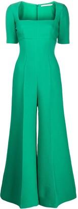 Emilia Wickstead Audie square-neck jumpsuit