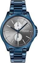 Hugo Blue IP Black Grey Bracelet Watch