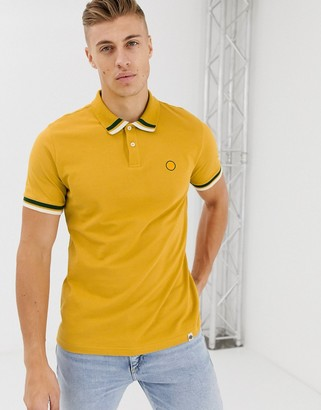 Pretty Green tipped polo in yellow