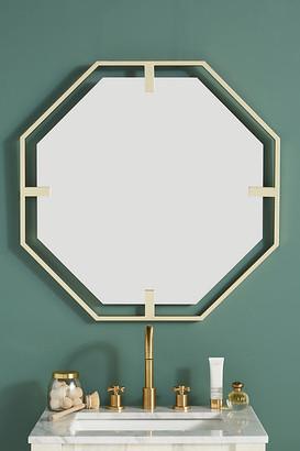 Anthropologie Melanie Octagon Mirror By in Brown Size ALL