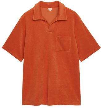 Arket Cotton Towelling Polo Shirt