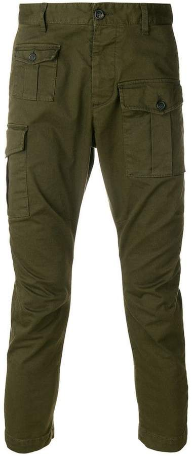 DSQUARED2 cargo cropped trousers