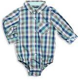 Andy & Evan Baby's Checked Long Sleeve Bodysuit