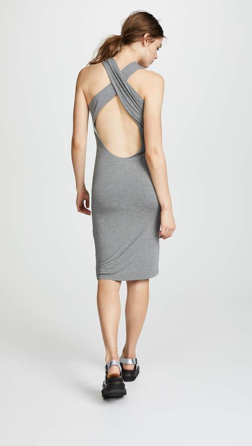 Alexander Wang Stretch Jersey Crisscross Dress