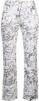Off-White Off White cartoon straight-leg jeans