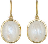 Irene Neuwirth Women's Oval Drop Earrings-GOLD