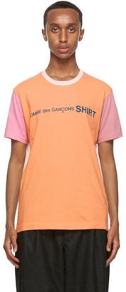 Comme des Garçons Shirt Multicolor Cotton Logo T-Shirt