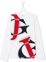 John Galliano graphic print long sleeve T-shirt