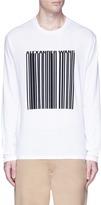 Alexander Wang Barcode logo print long sleeve T-shirt