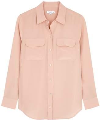 Equipment Slim Signature Blush Silk Shirt