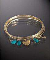 set of 5- turquoise stone charm bangles