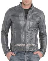 London Craze LondonCraze Men's Leather Jacket 402 S