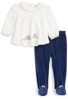 Little Me Sweet Owls Tunic & Footed Pants Set (Baby Girls)