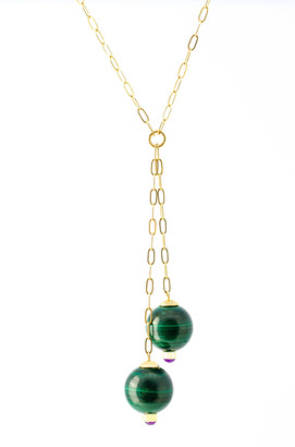 Haute Victoire 18K Gold Malachite And Amethyst Necklace