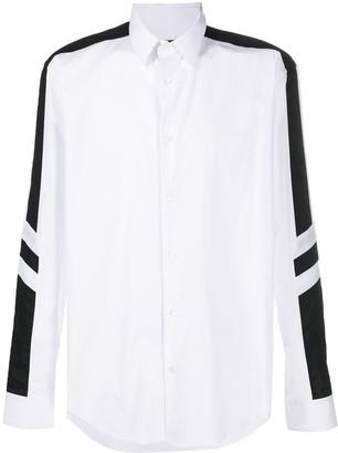 Les Hommes Side Stripe Long-Sleeved Shirt