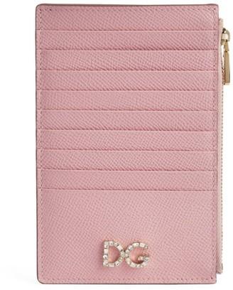 Dolce & Gabbana Leather Zipped Card Holder