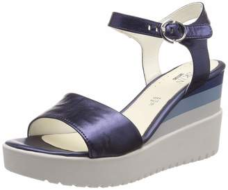 Stonefly Women's Ely 7 Laminated LTH Ankle Strap Sandals