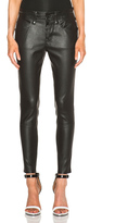 Unravel Slouchy Skinny Lambskin Leather Pants