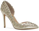 INC International Concepts Women's Karlay Floral Embellished Evening Pumps, Only at Macy's