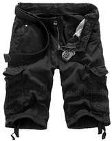 SODIAL(R) Mens Cotton Summer Army Combat Camo Work Cargo Shorts Pants Trousers